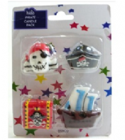 Pack of 4 pirate candles (Code 3590)